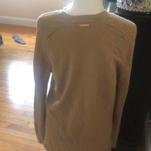 MICHAEL Michael Kors Sweaters - Tan v-neck cashmere sweater